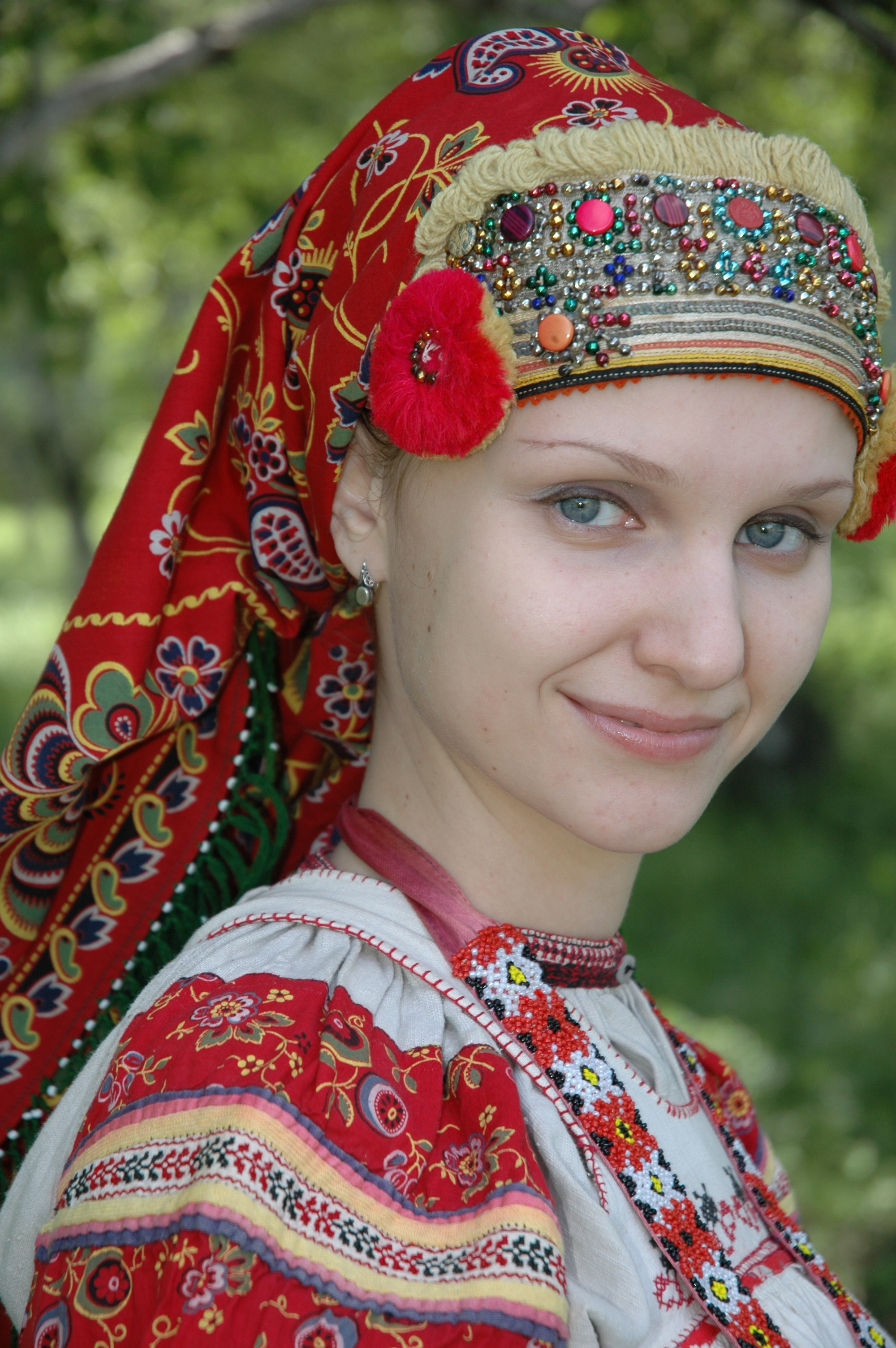 Woman In Traditional Russian 63